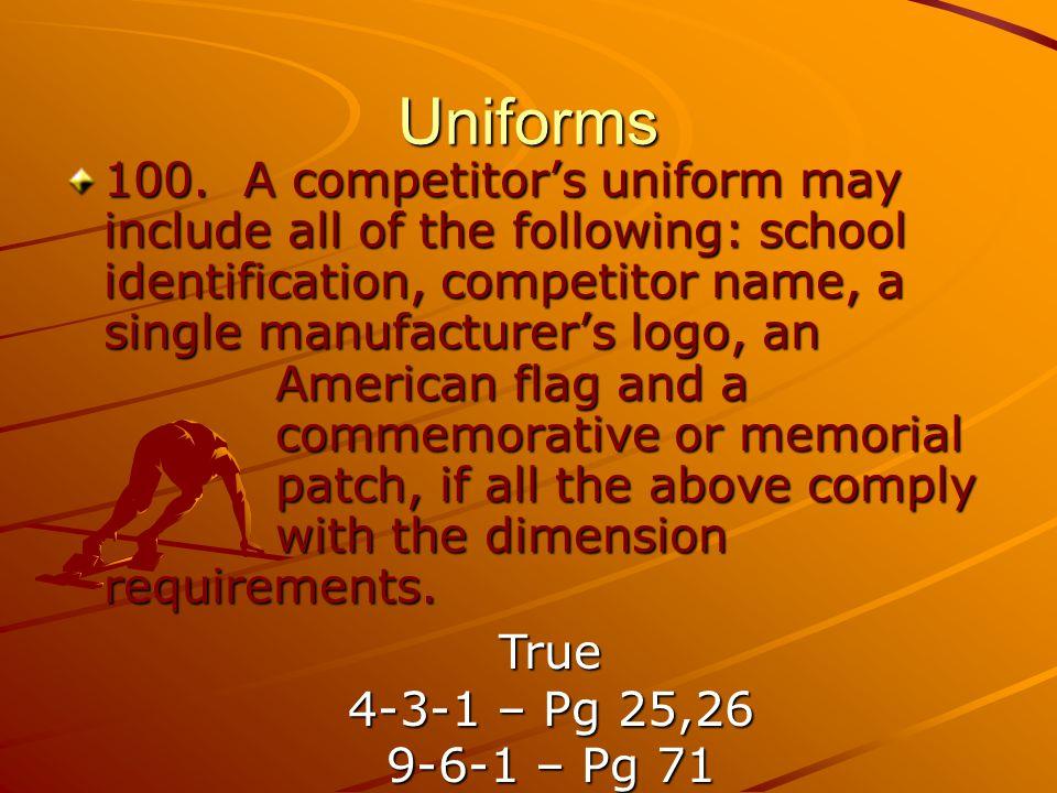 Uniforms 100.