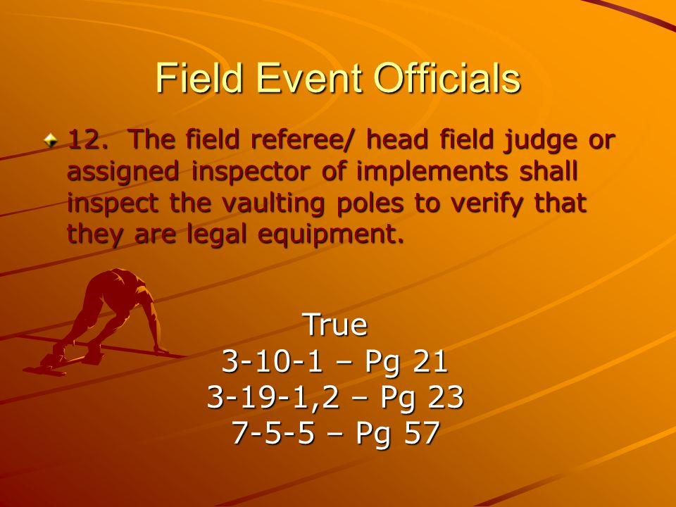 Field Event Officials 12.