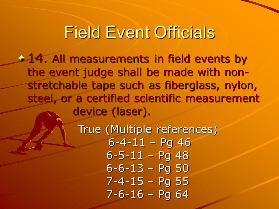 Field Event Officials 14.
