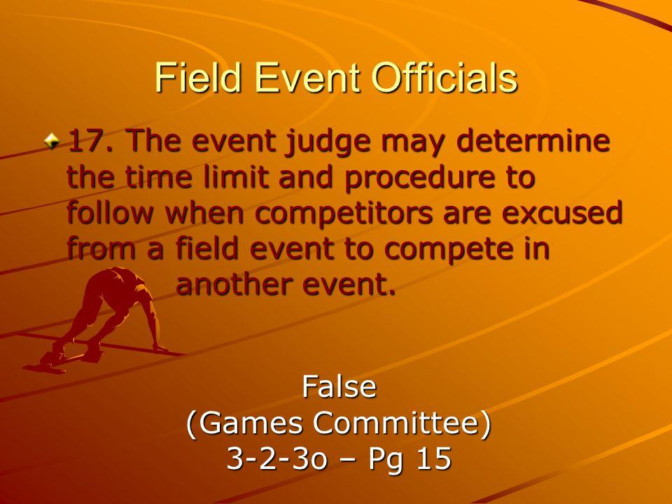 Field Event Officials 17.
