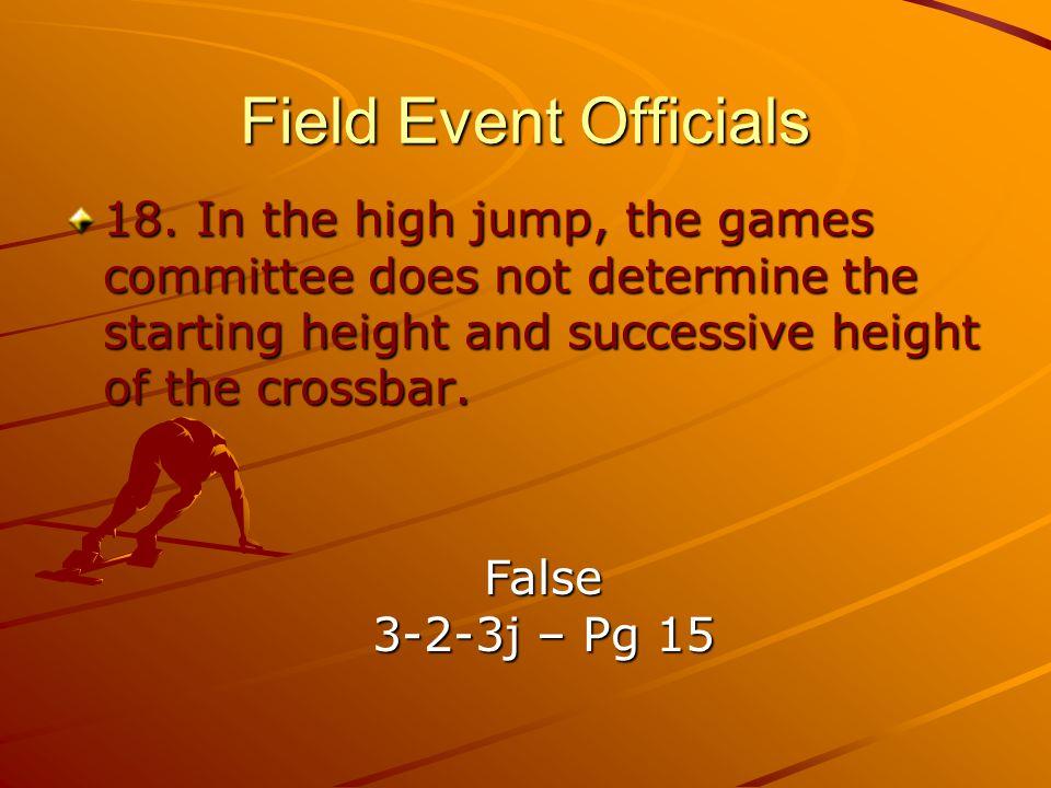 Field Event Officials 18.
