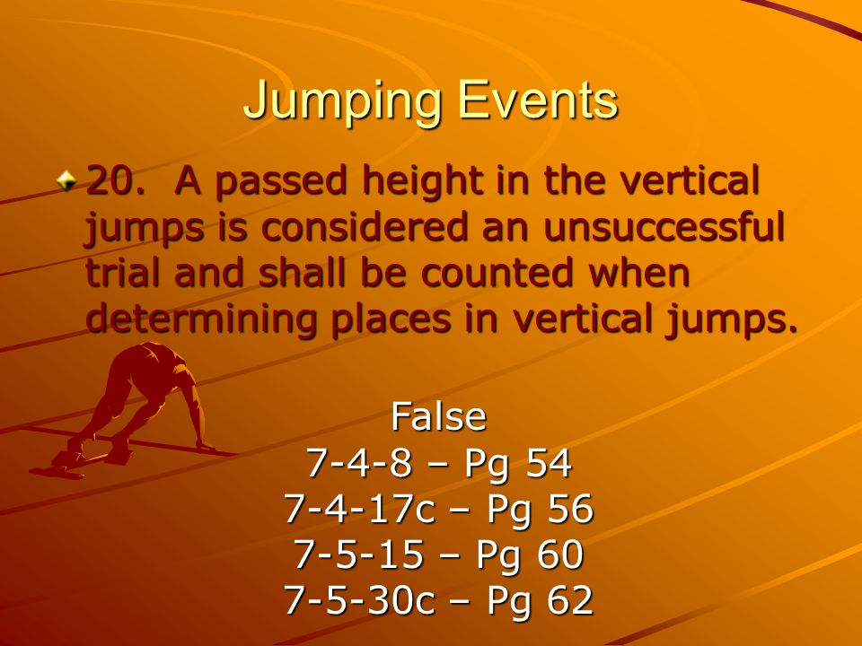 Jumping Events 20.