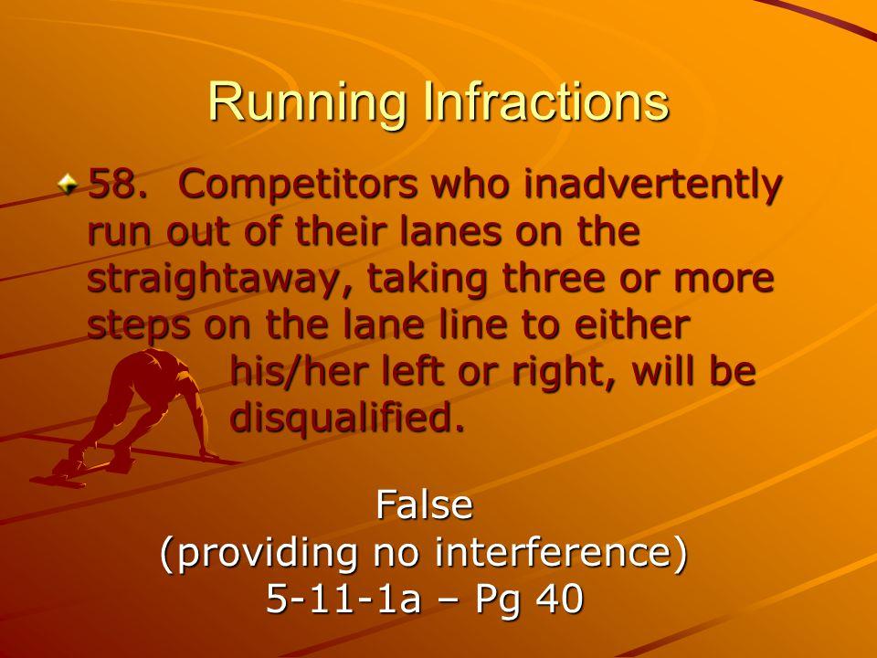 Running Infractions 58.