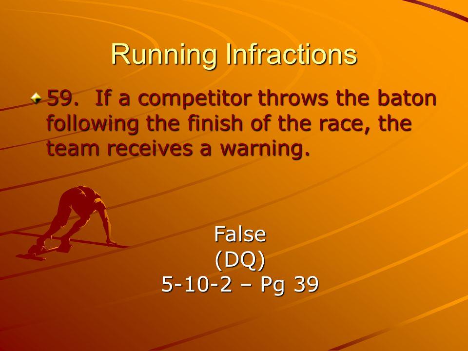Running Infractions 59.