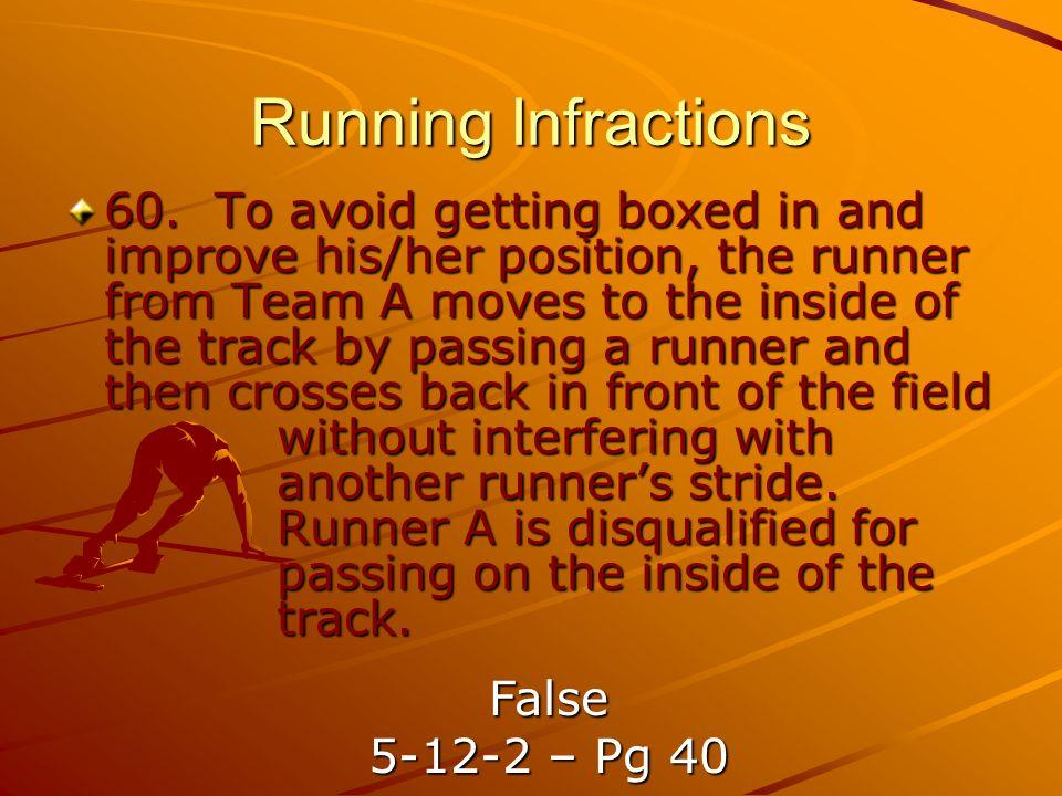 Running Infractions 60.