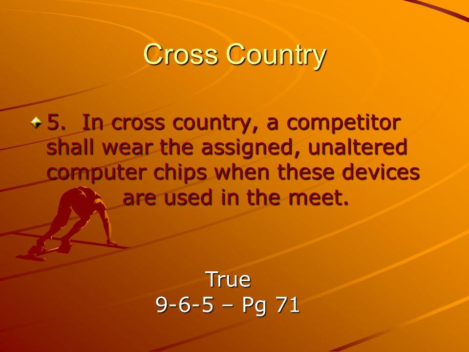 Cross Country 5.