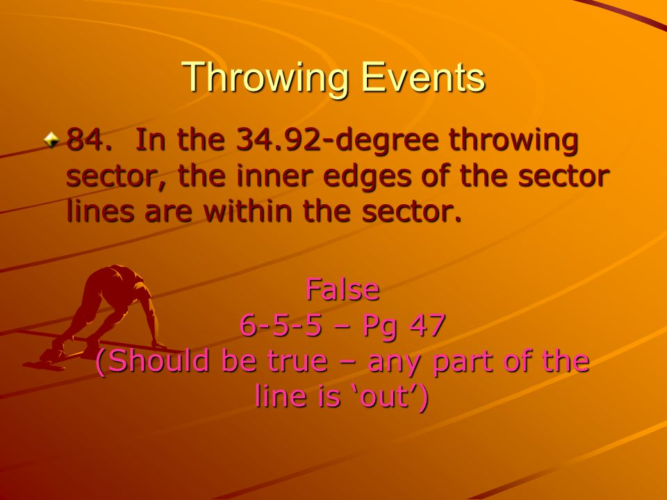 Throwing Events 84.