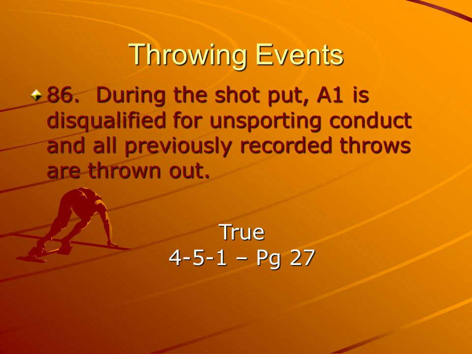 Throwing Events 86.