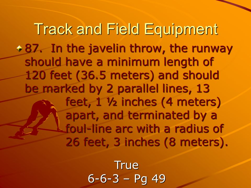 Track and Field Equipment 87.