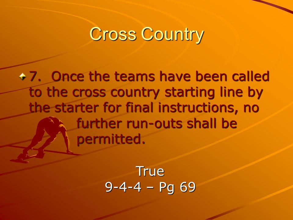 Cross Country 7.