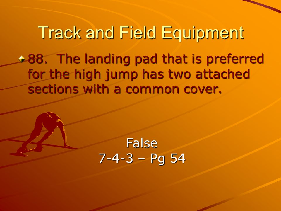 Track and Field Equipment 88.