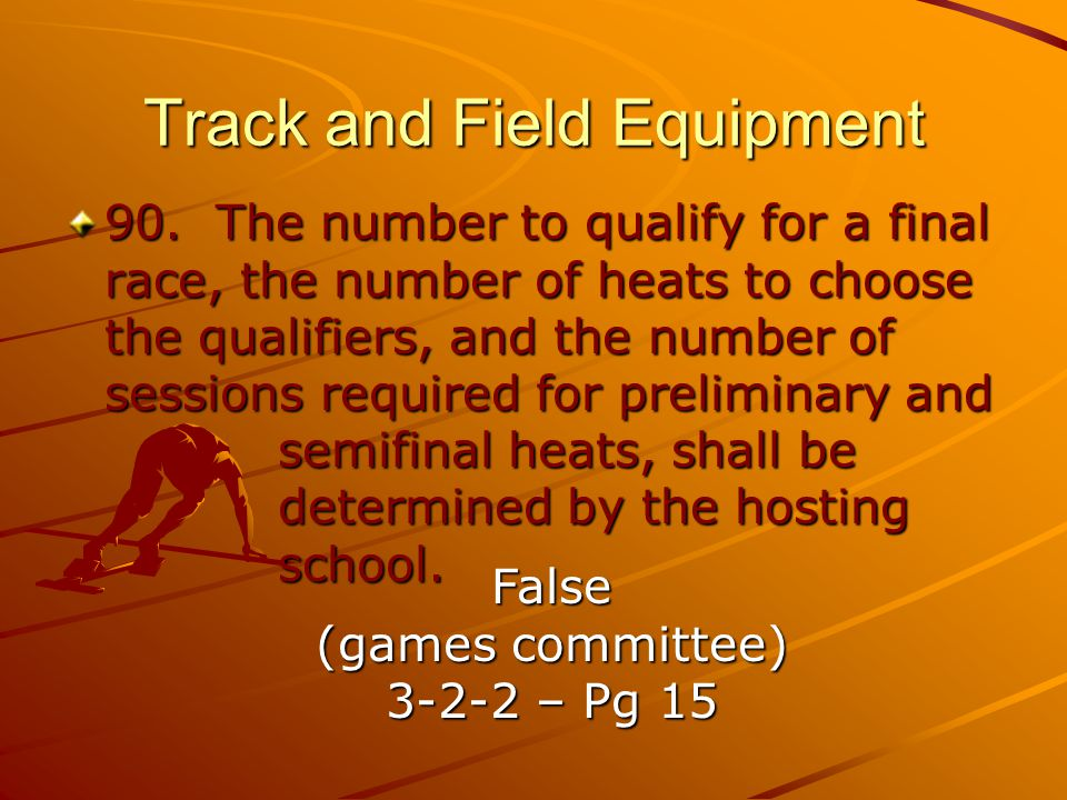 Track and Field Equipment 90.