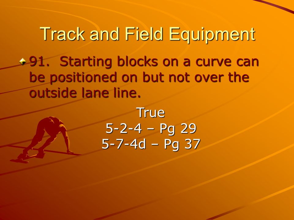 Track and Field Equipment 91.