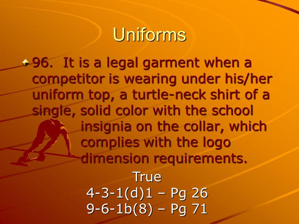 Uniforms 96.