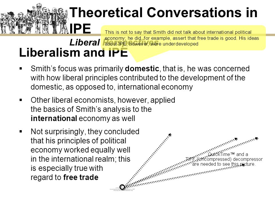 Theoretical Conversations in IPE Liberal Perspectives Liberalism and IPE Smiths focus was primarily domestic, that is, he was concerned with how liber