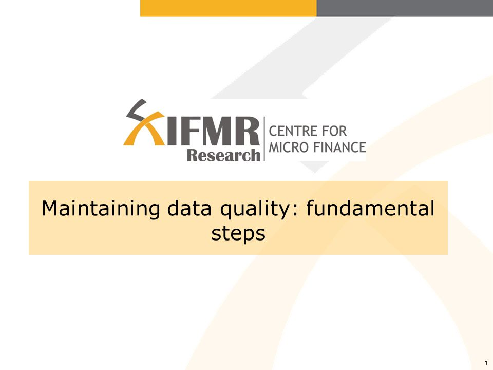 Data management: goals Quality Timing Timing is important, and you need to monitor the Data Entry Officers (DEO) or the Data Entry (DE) company carefully to make sure they stick to timelines, but by no mean you should sacrifice any steps related to quality check (if you save time on those steps, youll lose time later).