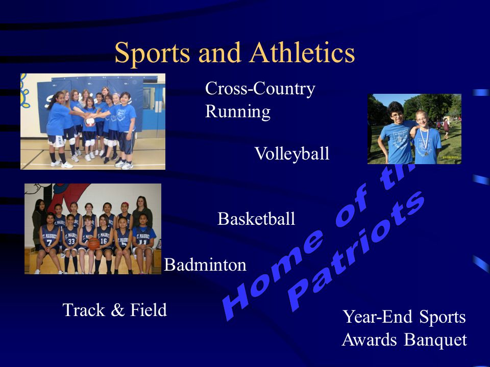 Sports and Athletics Basketball Badminton Track & Field Cross-Country Running Volleyball Year-End Sports Awards Banquet
