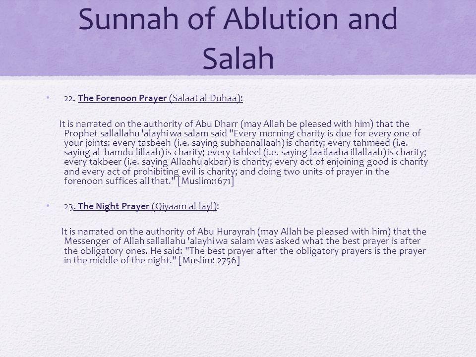 Sunnah of Ablution and Salah 22.