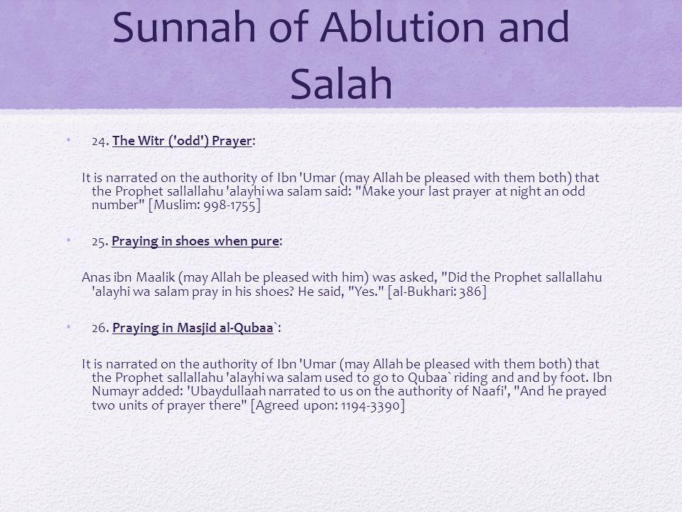 Sunnah of Ablution and Salah 24.