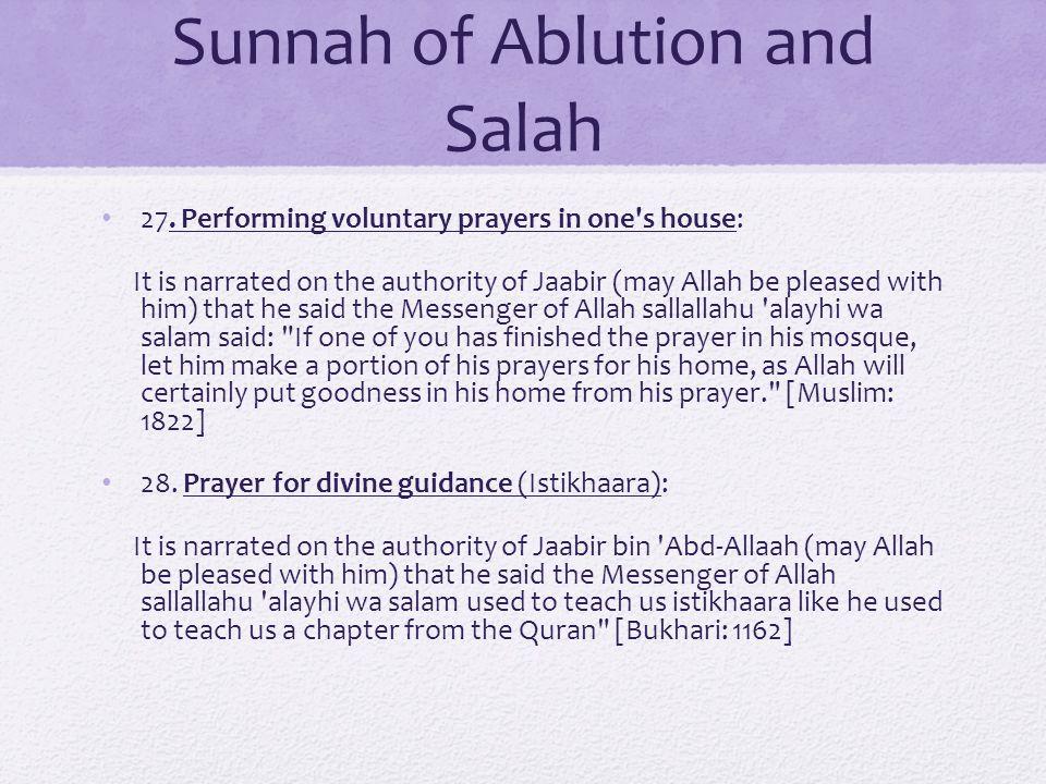 Sunnah of Ablution and Salah 27.