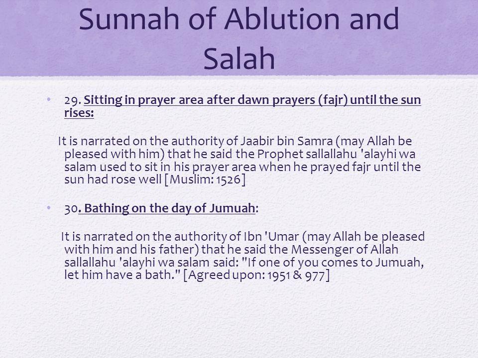 Sunnah of Ablution and Salah 29.