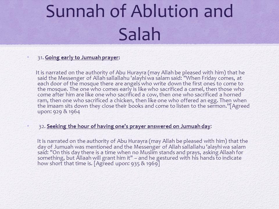 Sunnah of Ablution and Salah 31.