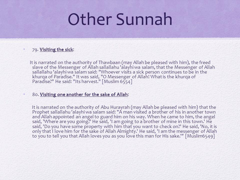 Other Sunnah 79.