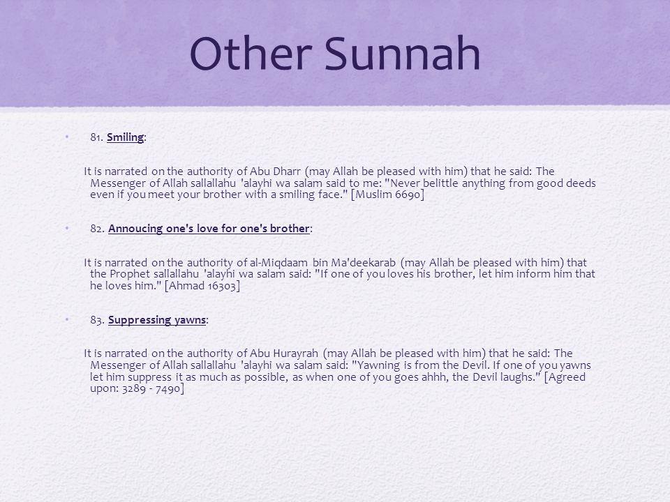 Other Sunnah 81.