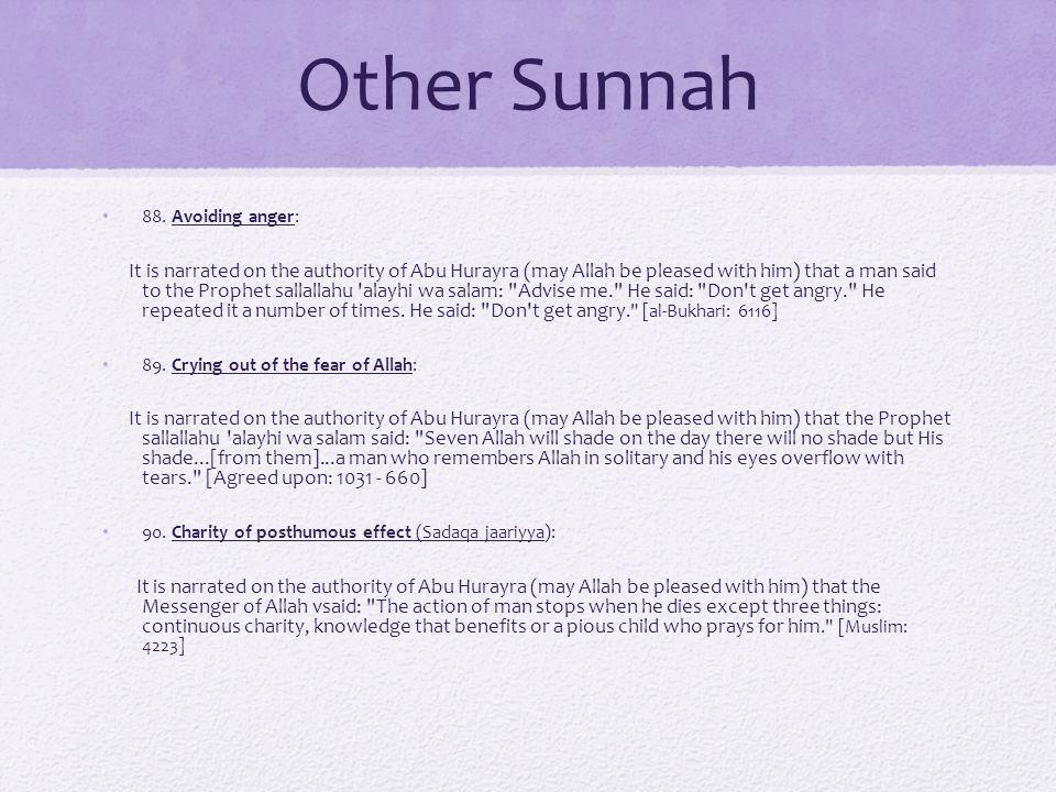 Other Sunnah 88.
