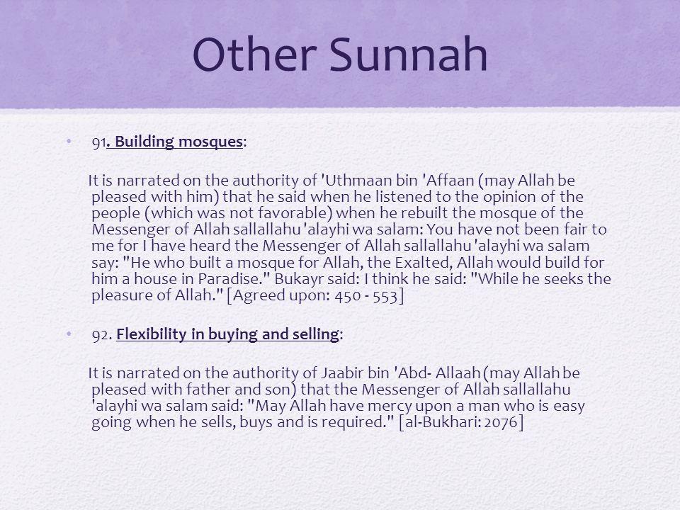 Other Sunnah 91.