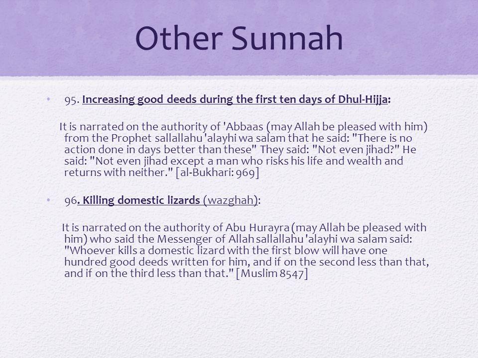 Other Sunnah 95.
