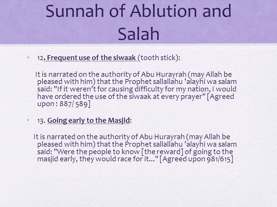 Sunnah of Ablution and Salah 12.