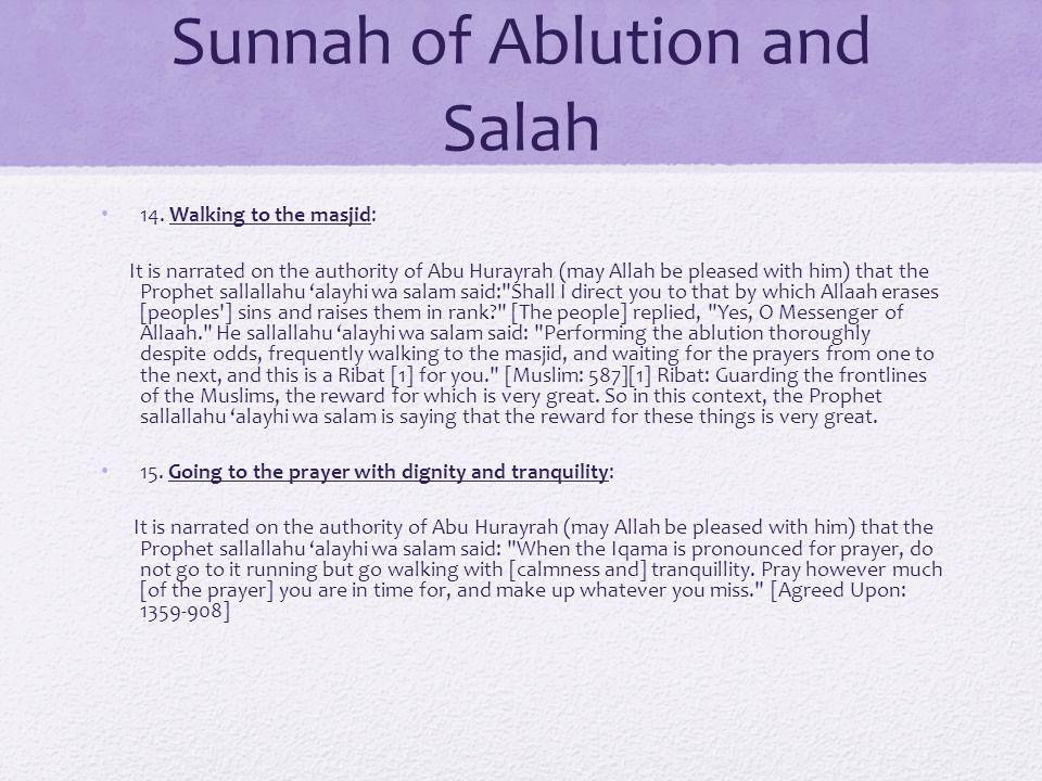 Sunnah of Ablution and Salah 14.