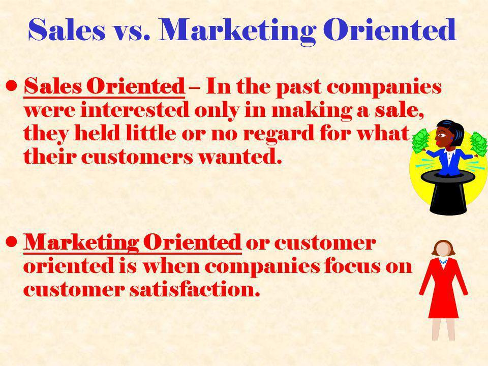 Sales vs.