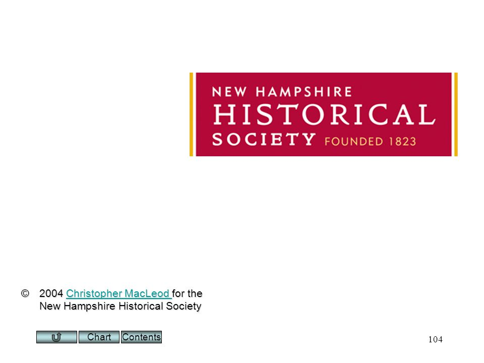 Chart 104 ©2004 Christopher MacLeod for the New Hampshire Historical Society Christopher MacLeod Christopher MacLeod Contents