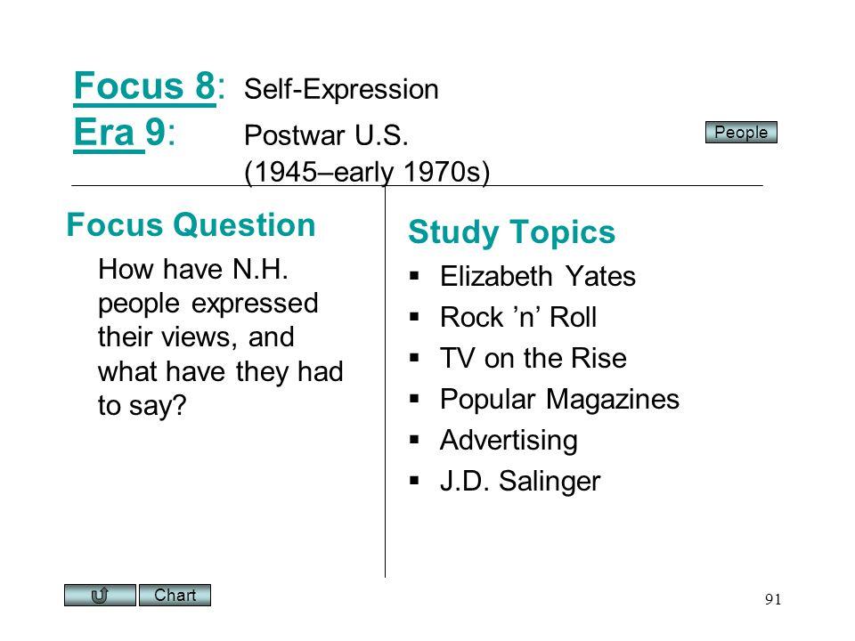 Chart 91 Focus 8Focus 8: Self-Expression Era 9: Postwar U.S.