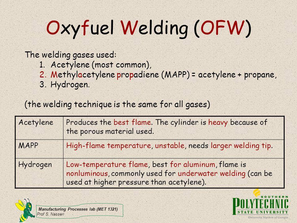 Manufacturing Processes lab (MET 1321) Prof S. Nasseri How to weld