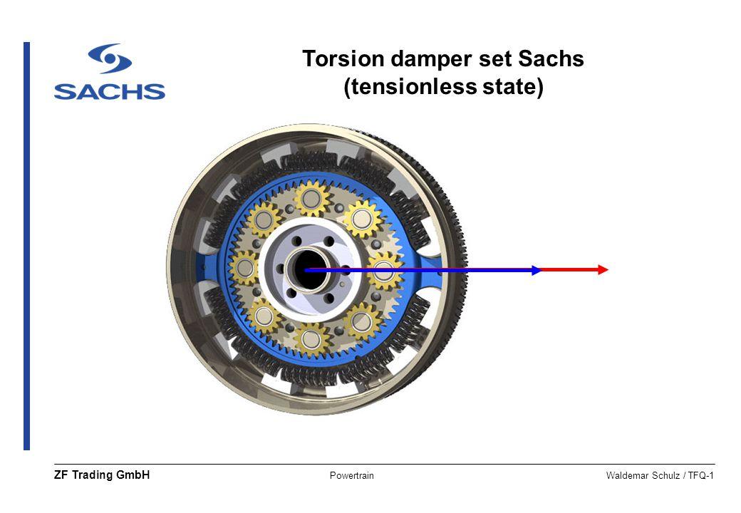 PowertrainWaldemar Schulz / TFQ-1 ZF Trading GmbH Torsion damper set Sachs (tensionless state)
