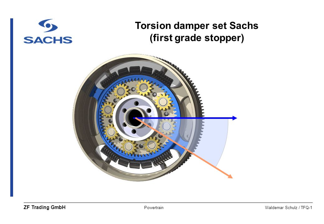 PowertrainWaldemar Schulz / TFQ-1 ZF Trading GmbH Torsion damper set Sachs (first grade stopper)