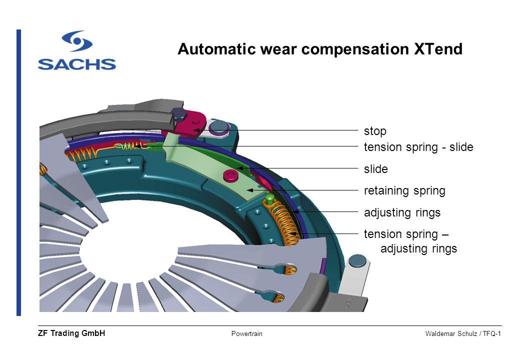 PowertrainWaldemar Schulz / TFQ-1 ZF Trading GmbH tension spring – adjusting rings slide tension spring - slide stop adjusting rings retaining spring