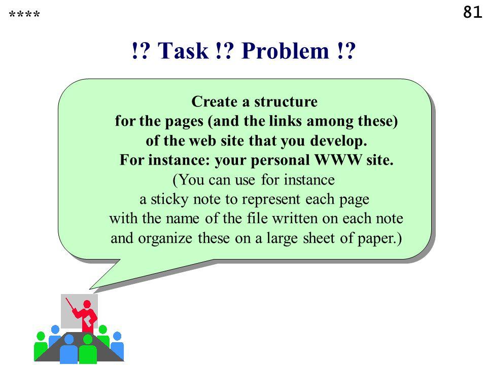 81 !. Task !. Problem !.