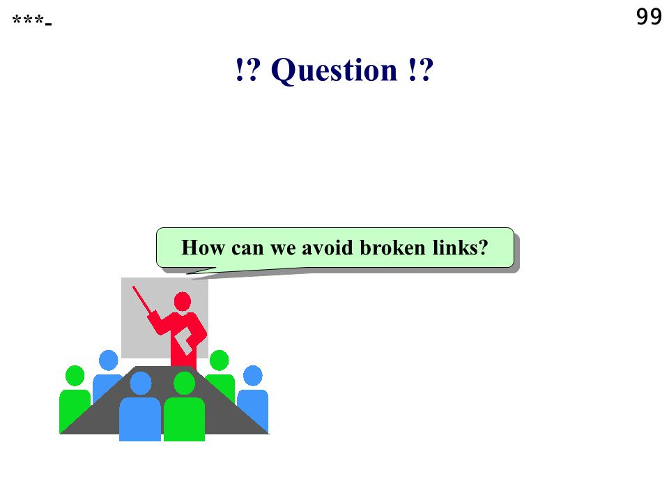 99 ! Question ! How can we avoid broken links ***-