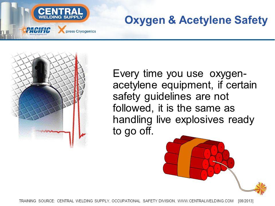 Topics well cover… Oxygen: General Properties and Hazards Acetylene: General Properties and Hazards Gas Properties, Storage, and Hazards –Oxygen –Acet