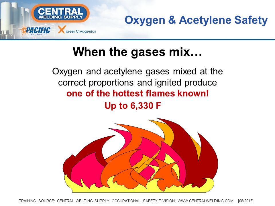 Every time you use oxygen- acetylene equipment, if certain safety guidelines are not followed, it is the same as handling live explosives ready to go