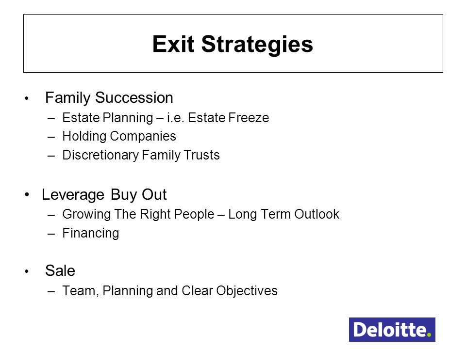 Business Exit Plan & Succession Planning Strategy Australia