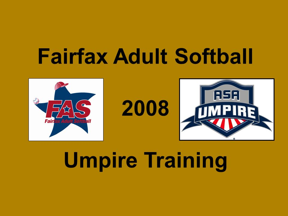 Fairfax Adult Softball 2008 Umpire Training