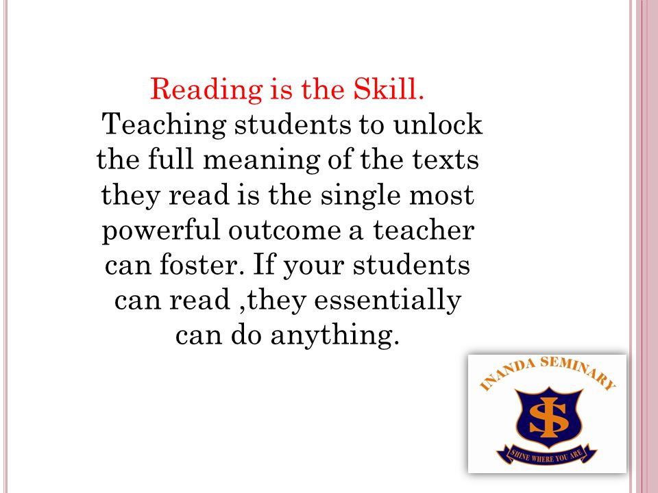 R EADING A LOUD Grade 8 -12 Senior and FET learners