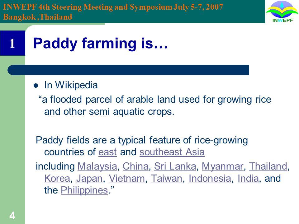 INWEPF 4th Steering Meeting and Symposium July 5-7, 2007 Bangkok,Thailand 15 Rice in Korea BC 300 – AD 670