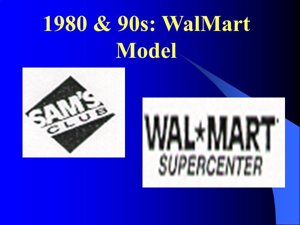 1980 & 90s: WalMart Model