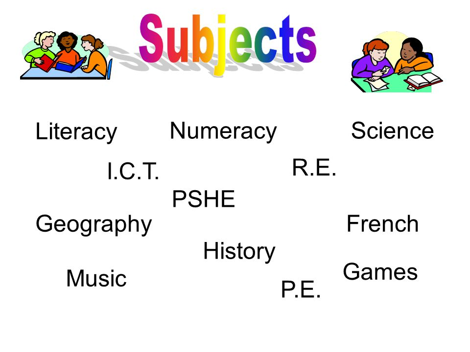 Literacy NumeracyScience I.C.T. PSHE R.E. Geography History French Music P.E. Games